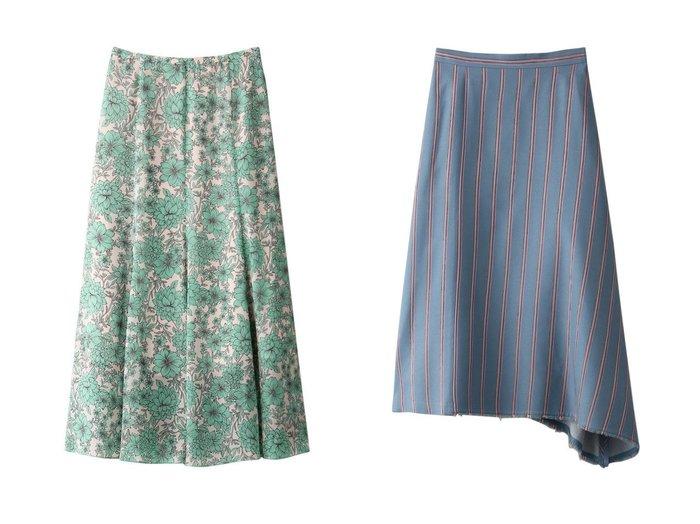 【LIFE WITH FLOWERS/ライフ ウィズ フラワーズ】のサイドフリンジストライプスカート&【ANAYI/アナイ】のボタニカルシフォンプリントフレア スカート 【スカート】おすすめ!人気、トレンド・レディースファッションの通販  おすすめファッション通販アイテム レディースファッション・服の通販 founy(ファニー) ファッション Fashion レディースファッション WOMEN スカート Skirt Aライン/フレアスカート Flared A-Line Skirts S/S・春夏 SS・Spring/Summer アシンメトリー シンプル ストライプ バランス 春 Spring 無地 おすすめ Recommend エアリー シアー シフォン セットアップ フレア ボタニカル ロング |ID:crp329100000038560
