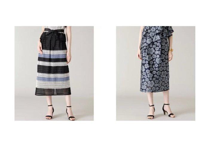 【ef-de/エフデ】の《M Maglie le cassetto》フラワージャガードスカート&《Maglie WHITE》ボーダーレーススカート 【スカート】おすすめ!人気、トレンド・レディースファッションの通販  おすすめファッション通販アイテム レディースファッション・服の通販 founy(ファニー)  ファッション Fashion レディースファッション WOMEN スカート Skirt おすすめ Recommend カットソー シアー セットアップ ポケット ストライプ スリット チュール バランス ボーダー モザイク モチーフ レース |ID:crp329100000038568