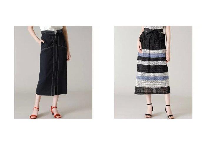【ef-de/エフデ】の《Maglie par ef-de》ペプラムタイトスカート&《Maglie WHITE》ボーダーレーススカート 【スカート】おすすめ!人気、トレンド・レディースファッションの通販  おすすめファッション通販アイテム レディースファッション・服の通販 founy(ファニー)  ファッション Fashion レディースファッション WOMEN スカート Skirt おすすめ Recommend カットソー ストライプ スリット セットアップ チュール バランス ボーダー モザイク モチーフ レース タイトスカート デニム フロント ペプラム |ID:crp329100000038569
