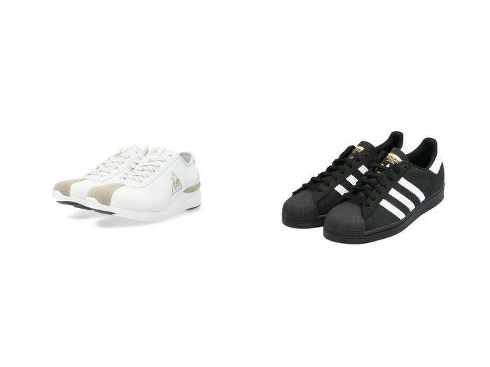 【adidas Originals/アディダス オリジナルス】の【アディダス スケートボーディング】スーパースター Superstar FV0321&【le coq sportif/ルコックスポルティフ】のヒールアップスニーカー 【シューズ・靴】おすすめ!人気、トレンド・レディースファッションの通販 おすすめファッション通販アイテム レディースファッション・服の通販 founy(ファニー) ファッション Fashion レディースファッション WOMEN シューズ スニーカー スリッポン 人気 今季 インソール フェミニン 軽量 |ID:crp329100000038587