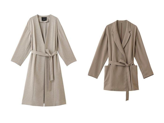 【allureville/アルアバイル】のリネンライクガウンコート&アセテートツイルラップコート 【アウター】おすすめ!人気、トレンド・レディースファッションの通販 おすすめファッション通販アイテム レディースファッション・服の通販 founy(ファニー) ファッション Fashion レディースファッション WOMEN アウター Coat Outerwear コート Coats ロング |ID:crp329100000038611