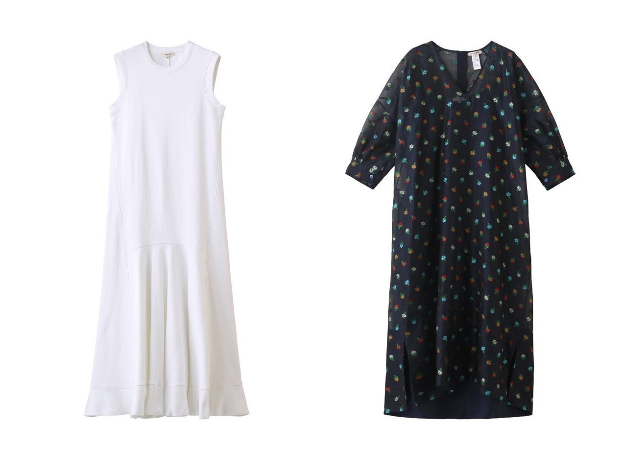 【BLAMINK/ブラミンク】のコットンリブノースリーブワンピース&シルクポリエステルフラワージャガードVネックワンピース 【ワンピース・ドレス】おすすめ!人気、トレンド・レディースファッションの通販 おすすめで人気の流行・トレンド、ファッションの通販商品 メンズファッション・キッズファッション・インテリア・家具・レディースファッション・服の通販 founy(ファニー) https://founy.com/ ファッション Fashion レディースファッション WOMEN ワンピース Dress S/S・春夏 SS・Spring/Summer インナー ノースリーブ フィット ロング 春 Spring アンダー ドレス 今季  ID:crp329100000038632