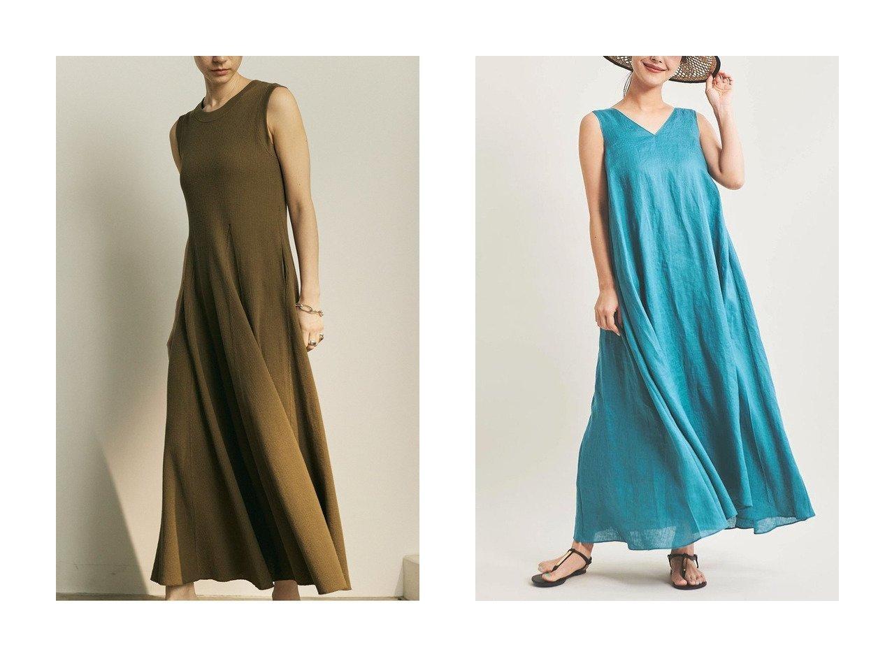 【The Virgnia/ザ ヴァージニア】のリネンリラクシーワンピース&【GALLARDAGALANTE/ガリャルダガランテ】のノースリーブサーマルワンピース 【ワンピース・ドレス】おすすめ!人気、トレンド・レディースファッションの通販 おすすめで人気の流行・トレンド、ファッションの通販商品 メンズファッション・キッズファッション・インテリア・家具・レディースファッション・服の通販 founy(ファニー) https://founy.com/ ファッション Fashion レディースファッション WOMEN ワンピース Dress S/S・春夏 SS・Spring/Summer おすすめ Recommend エレガント サマー ジャケット スリーブ フィット フレア ポケット ロング 春 Spring オレンジ フランス ラグジュアリー リネン リュクス  ID:crp329100000038646