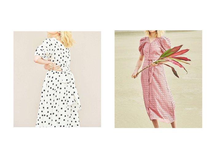 【The Virgnia/ザ ヴァージニア】のカシュクール2WAYワンピース&カットワーク幾何学刺しゅうワンピース 【ワンピース・ドレス】おすすめ!人気、トレンド・レディースファッションの通販 おすすめファッション通販アイテム レディースファッション・服の通販 founy(ファニー) ファッション Fashion レディースファッション WOMEN ワンピース Dress イエロー カシュクール スリーブ ドット ロング クラシカル コルセット ワーク 切替 |ID:crp329100000038647