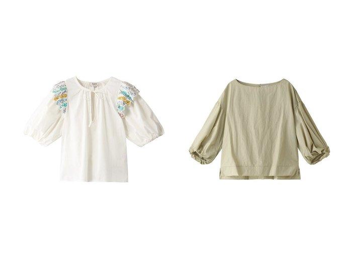 【Sea NEW YORK/シー ニューヨーク】のリンデンパッチワークキルト風パフスリーブシャツ&【heliopole/エリオポール】の袖口ねじりブラウス 【トップス・カットソー】おすすめ!人気、トレンド・レディースファッションの通販 おすすめファッション通販アイテム レディースファッション・服の通販 founy(ファニー) ファッション Fashion レディースファッション WOMEN トップス・カットソー Tops/Tshirt シャツ/ブラウス Shirts/Blouses S/S・春夏 SS・Spring/Summer キルト ショート スリーブ パッチワーク フェミニン 春 Spring ツイスト ロング |ID:crp329100000038704
