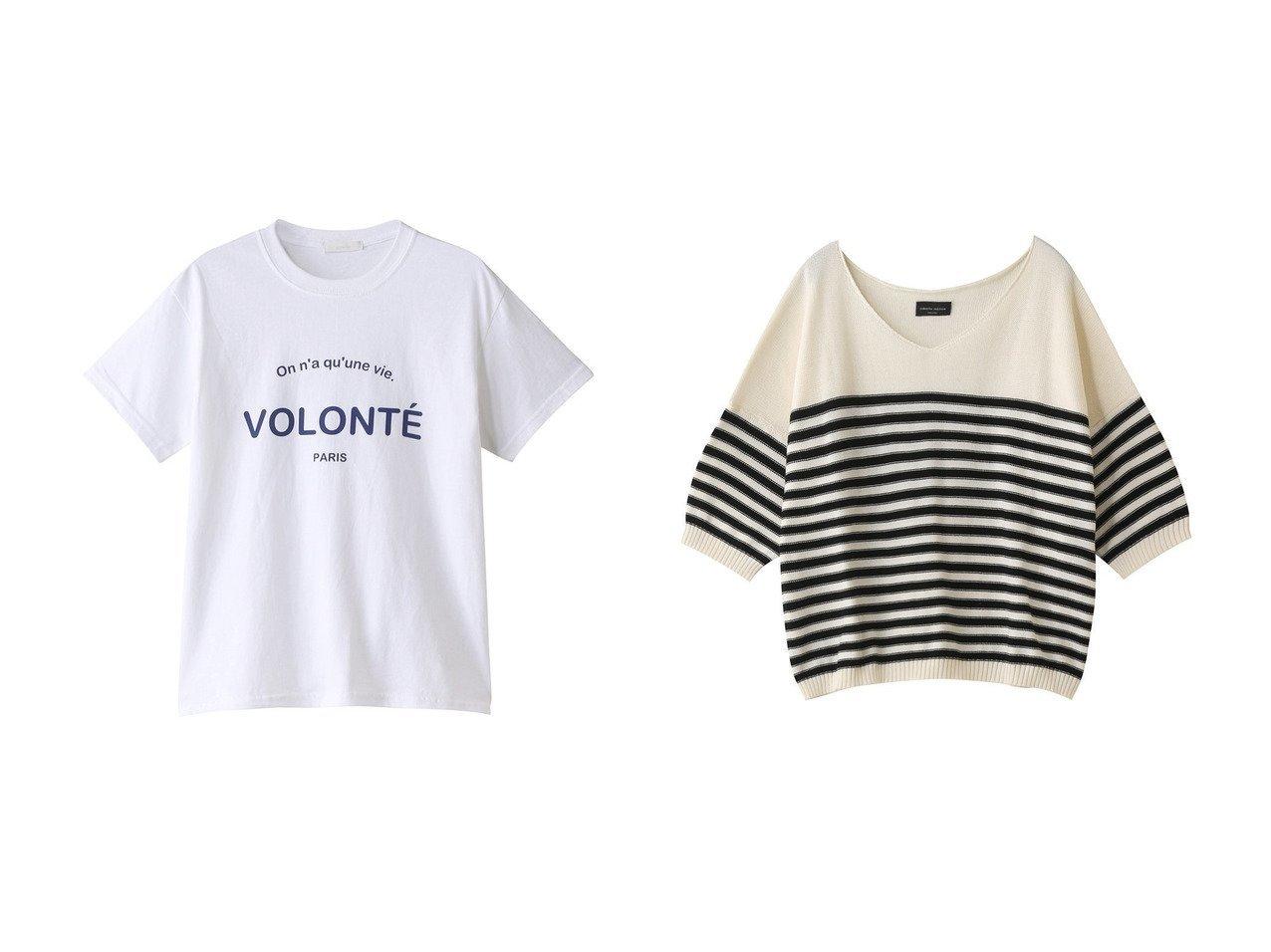 【allureville/アルアバイル】のFONT COMBINATIONロゴT&【heliopole/エリオポール】の【ROBERTO COLLINA】ニット 【トップス・カットソー】おすすめ!人気、トレンド・レディースファッションの通販 おすすめで人気の流行・トレンド、ファッションの通販商品 メンズファッション・キッズファッション・インテリア・家具・レディースファッション・服の通販 founy(ファニー) https://founy.com/ ファッション Fashion レディースファッション WOMEN トップス・カットソー Tops/Tshirt シャツ/ブラウス Shirts/Blouses ロング / Tシャツ T-Shirts カットソー Cut and Sewn ニット Knit Tops プルオーバー Pullover ショート シンプル スリーブ 半袖 ボーダー  ID:crp329100000038719