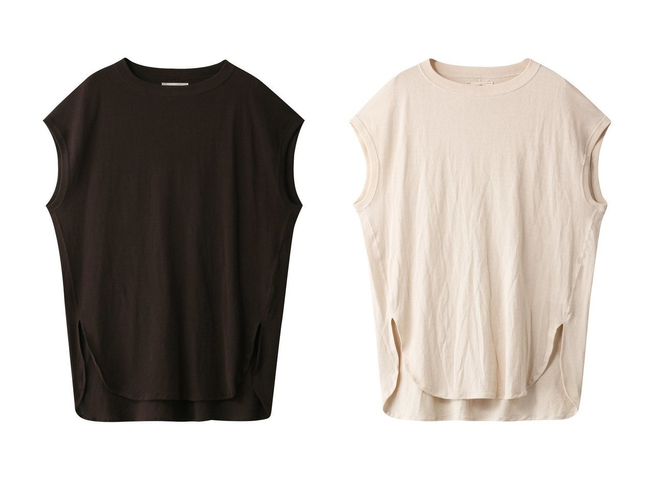 【unfil/アンフィル】のペーパージャージーノースリーブTシャツ 【トップス・カットソー】おすすめ!人気、トレンド・レディースファッションの通販 おすすめで人気の流行・トレンド、ファッションの通販商品 メンズファッション・キッズファッション・インテリア・家具・レディースファッション・服の通販 founy(ファニー) https://founy.com/ ファッション Fashion レディースファッション WOMEN トップス・カットソー Tops/Tshirt キャミソール / ノースリーブ No Sleeves シャツ/ブラウス Shirts/Blouses ロング / Tシャツ T-Shirts カットソー Cut and Sewn キャミソール ジャージー スリット タンク ノースリーブ ペーパー  ID:crp329100000038725