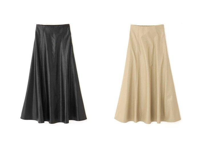 【FREE'S MART/フリーズマート】のフェイクレザーフレアスカート 【スカート】おすすめ!人気、トレンド・レディースファッションの通販 おすすめファッション通販アイテム レディースファッション・服の通販 founy(ファニー) ファッション Fashion レディースファッション WOMEN スカート Skirt Aライン/フレアスカート Flared A-Line Skirts トレンド フェイクレザー フレア フロント マーメイド 楽ちん  ID:crp329100000039067