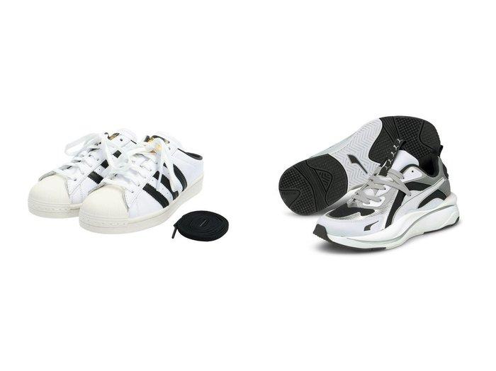 【adidas Originals/アディダス オリジナルス】のSST ミュール SST MULE アディダスオリジナルス&【PUMA/プーマ】のPUMA RS-CURVE GLOW WNS 【シューズ・靴】おすすめ!人気、トレンド・レディースファッションの通販 おすすめファッション通販アイテム レディースファッション・服の通販 founy(ファニー)  ファッション Fashion レディースファッション WOMEN クラシック シューズ スニーカー スリッポン ミュール |ID:crp329100000039077