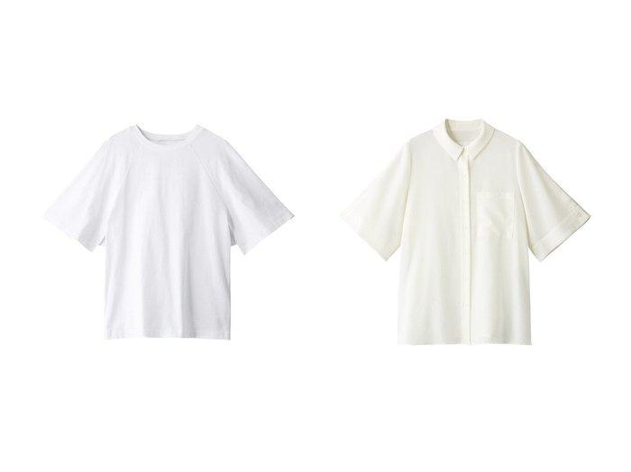 【ROSE BUD/ローズバッド】のコットンTシャツ&【mici】ハーフスリーブシャツ 【トップス・カットソー】おすすめ!人気、トレンド・レディースファッションの通販 おすすめ人気トレンドファッション通販アイテム 人気、トレンドファッション・服の通販 founy(ファニー) ファッション Fashion レディースファッション WOMEN トップス・カットソー Tops/Tshirt シャツ/ブラウス Shirts/Blouses ロング / Tシャツ T-Shirts カットソー Cut and Sewn ショート スリーブ フレア フロント カフス スリット |ID:crp329100000039133