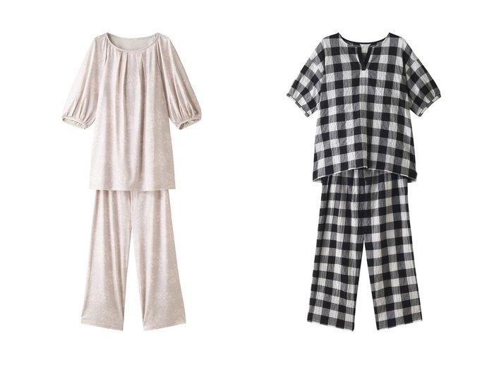 【KID BLUE/キッドブルー】の21シャーリングギンガムパジャマ&シルクレースPtパジャマ おすすめ!人気、トレンド・レディースファッションの通販 おすすめ人気トレンドファッション通販アイテム 人気、トレンドファッション・服の通販 founy(ファニー)  ファッション Fashion レディースファッション WOMEN トップス・カットソー Tops/Tshirt S/S・春夏 SS・Spring/Summer シルク パジャマ フェミニン プリント ランダム リラックス レース 春 Spring |ID:crp329100000039204