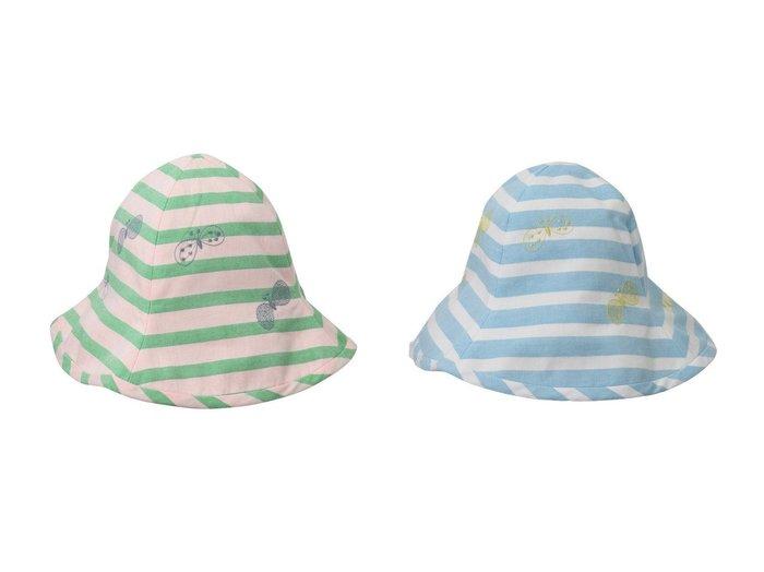 【mina perhonen / KIDS/ミナ ペルホネン】の【KIDS】choucho 帽子 【KIDS】子供服のおすすめ!人気トレンド・キッズファッションの通販  おすすめ人気トレンドファッション通販アイテム 人気、トレンドファッション・服の通販 founy(ファニー) ファッション Fashion キッズファッション KIDS サマー 帽子 |ID:crp329100000039216
