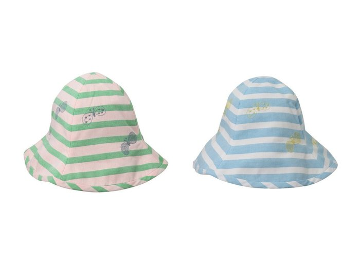 【mina perhonen / KIDS/ミナ ペルホネン】の【KIDS】choucho 帽子 【KIDS】子供服のおすすめ!人気トレンド・キッズファッションの通販  おすすめファッション通販アイテム レディースファッション・服の通販 founy(ファニー) ファッション Fashion キッズファッション KIDS サマー 帽子 |ID:crp329100000039216