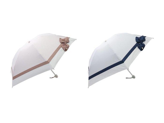 【LANVIN en Bleu/ランバン オン ブルー】のグログランリボン折りたたみパラソル (晴雨兼用) 【傘】おすすめ!人気、トレンド・レディースファッションの通販 おすすめファッション通販アイテム インテリア・キッズ・メンズ・レディースファッション・服の通販 founy(ファニー) https://founy.com/ ファッション Fashion レディースファッション WOMEN 傘 / レイングッズ Umbrellas/Rainwear チャーム ビジュー フェミニン リボン 傘  ID:crp329100000039230