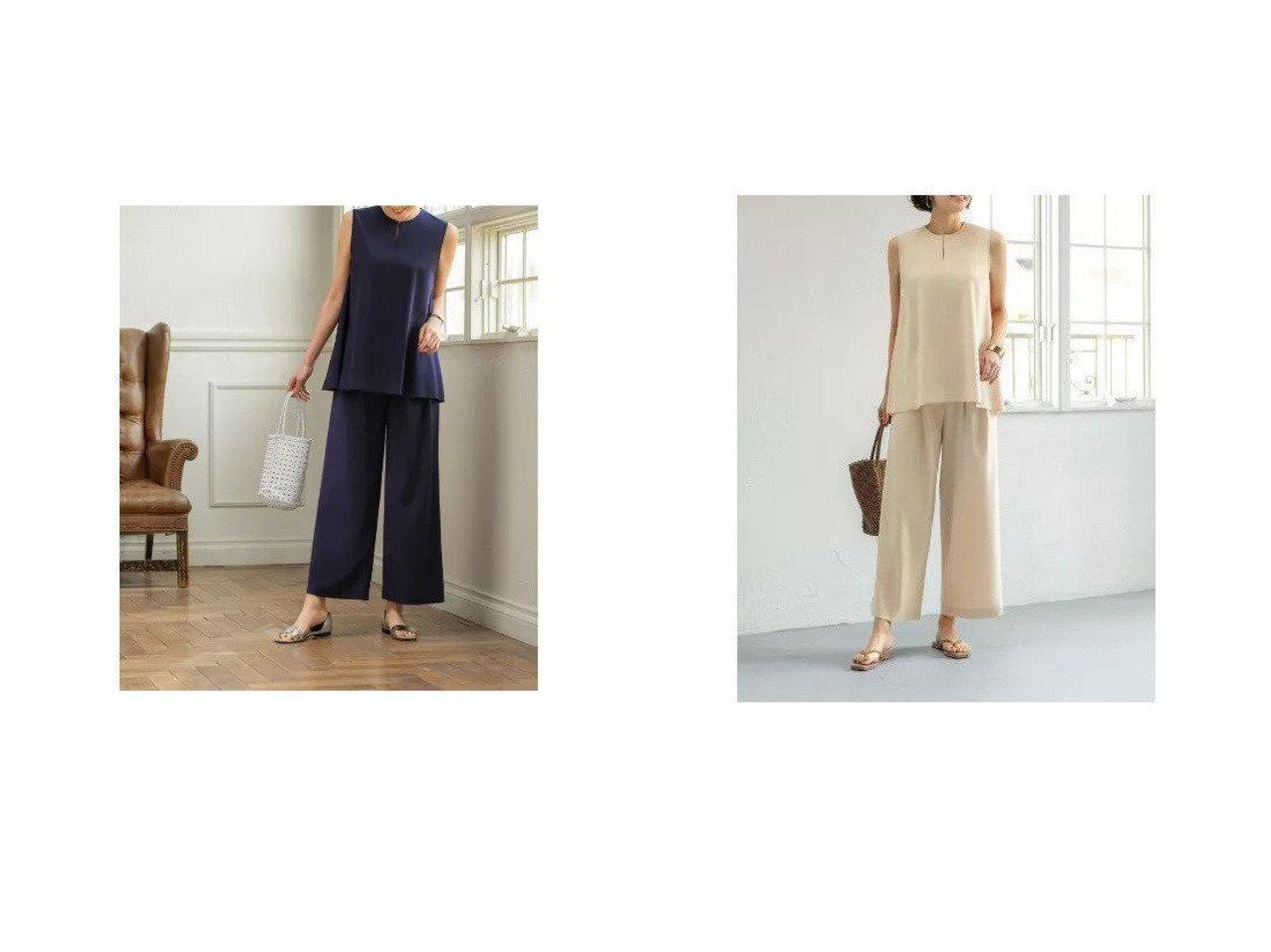 【STYLE DELI/スタイルデリ】のドレープトップスセットアップ 【パンツ】おすすめ!人気、トレンド・レディースファッションの通販 おすすめで人気の流行・トレンド、ファッションの通販商品 メンズファッション・キッズファッション・インテリア・家具・レディースファッション・服の通販 founy(ファニー) https://founy.com/ ファッション Fashion レディースファッション WOMEN セットアップ Setup トップス Tops パンツ Pants インナー オレンジ くるぶし キャミソール シンプル ジャケット ジョーゼット セットアップ ドレープ ノースリーブ パステル フレア ポケット リラックス ワイド |ID:crp329100000039506