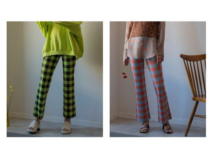 【MAISON SPECIAL/メゾンスペシャル】のブロックチェックニットパンツ【メゾンスペシャル】 【パンツ】おすすめ!人気、トレンド・レディースファッションの通販 おすすめ人気トレンドファッション通販アイテム 人気、トレンドファッション・服の通販 founy(ファニー)  ファッション Fashion レディースファッション WOMEN パンツ Pants ジーンズ チェック チュニック フレア ブロック レギンス |ID:crp329100000039511