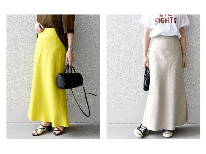 【SHIPS/シップス フォー ウィメン】のリネンロングフレアスカート 【スカート】おすすめ!人気、トレンド・レディースファッションの通販 おすすめファッション通販アイテム レディースファッション・服の通販 founy(ファニー) ファッション Fashion レディースファッション WOMEN スカート Skirt Aライン/フレアスカート Flared A-Line Skirts ロングスカート Long Skirt バランス マーメイド リネン ロング |ID:crp329100000039524