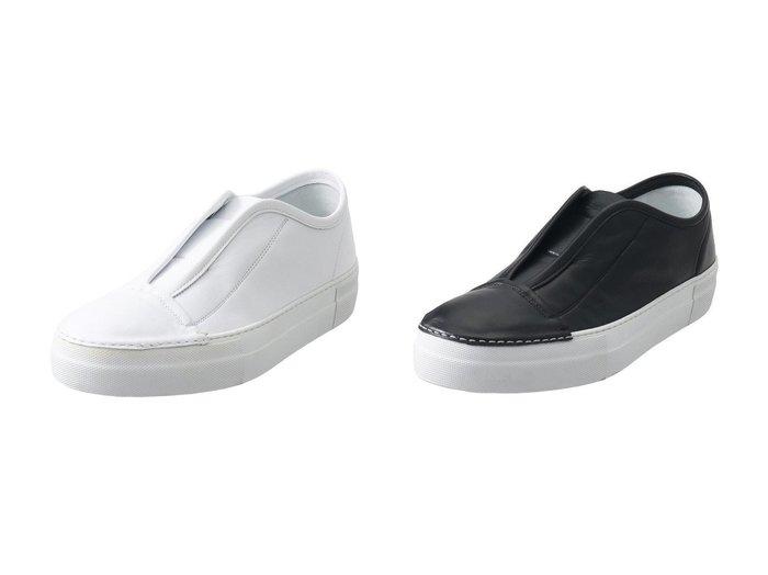 【PLAIN PEOPLE/プレインピープル】の【Rocco P.】レザースリッポンスニーカー 【シューズ・靴】おすすめ!人気、トレンド・レディースファッションの通販 おすすめファッション通販アイテム レディースファッション・服の通販 founy(ファニー) ファッション Fashion レディースファッション WOMEN シンプル スニーカー |ID:crp329100000039530