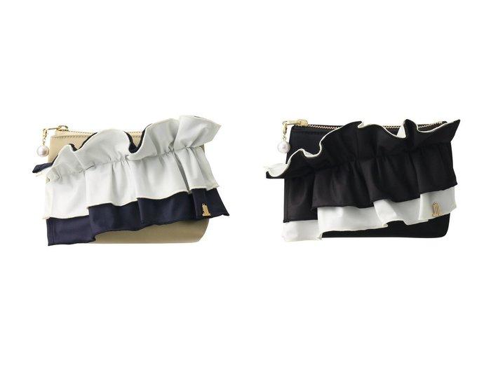 【LANVIN en Bleu/ランバン オン ブルー】のフリルポーチ 【バッグ・鞄】おすすめ!人気、トレンド・レディースファッションの通販 おすすめ人気トレンドファッション通販アイテム 人気、トレンドファッション・服の通販 founy(ファニー) ファッション Fashion レディースファッション WOMEN ポーチ Pouches パール フリル ポーチ |ID:crp329100000039543
