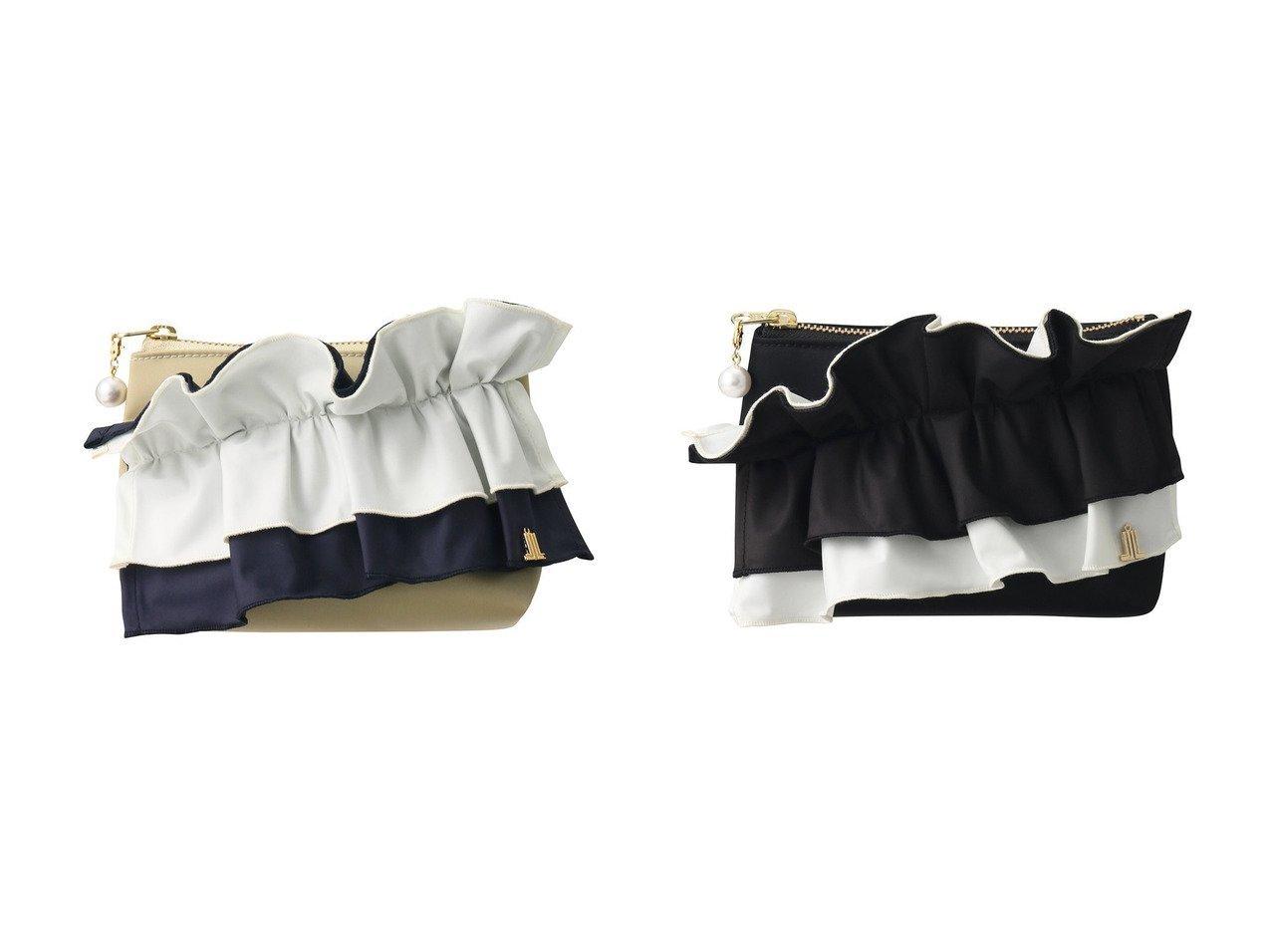 【LANVIN en Bleu/ランバン オン ブルー】のフリルポーチ 【バッグ・鞄】おすすめ!人気、トレンド・レディースファッションの通販 おすすめで人気の流行・トレンド、ファッションの通販商品 メンズファッション・キッズファッション・インテリア・家具・レディースファッション・服の通販 founy(ファニー) https://founy.com/ ファッション Fashion レディースファッション WOMEN ポーチ Pouches パール フリル ポーチ |ID:crp329100000039543