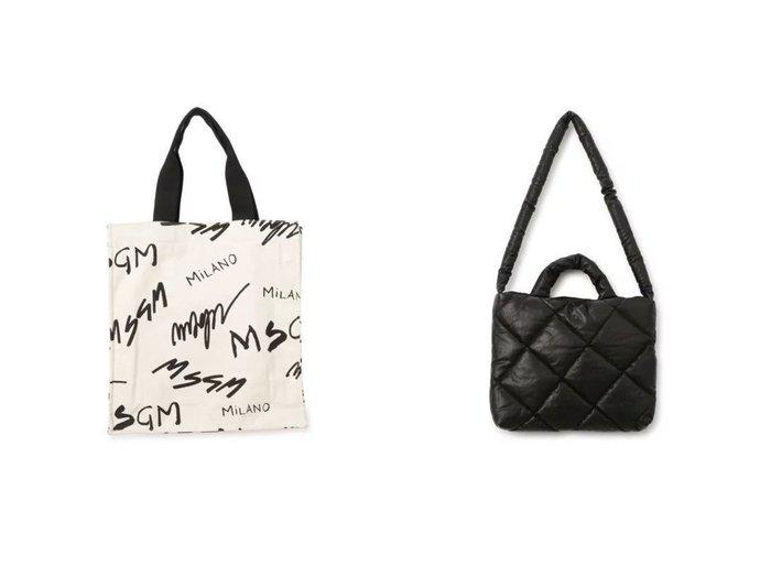 【KASSL EDITIONS/カッスル エディションズ】のBAG PILLOW SMALL QUILTED&【MSGM/エムエスジーエム】のTOTE BAG 【バッグ・鞄】おすすめ!人気、トレンド・レディースファッションの通販 おすすめファッション通販アイテム インテリア・キッズ・メンズ・レディースファッション・服の通販 founy(ファニー) https://founy.com/ ファッション Fashion レディースファッション WOMEN バッグ Bag 2021年 2021 2021春夏・S/S SS/Spring/Summer/2021 S/S・春夏 SS・Spring/Summer クール フォルム |ID:crp329100000039549