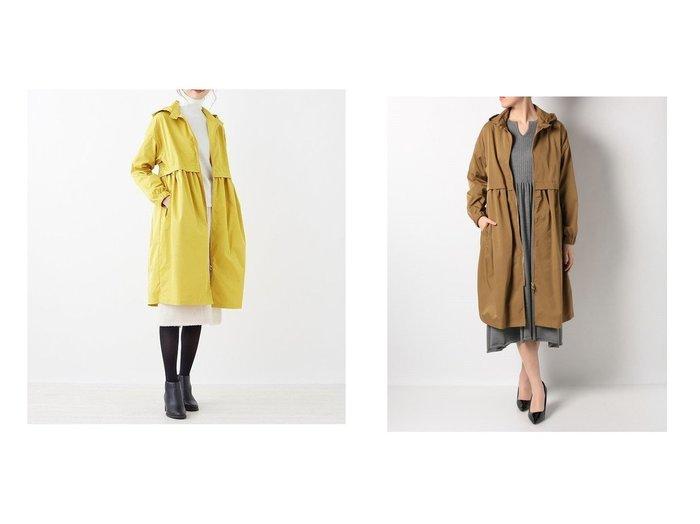 【en recre/アン レクレ】のフーディライトアウター 【アウター】おすすめ!人気、トレンド・レディースファッションの通販 おすすめファッション通販アイテム レディースファッション・服の通販 founy(ファニー) ファッション Fashion レディースファッション WOMEN アウター Coat Outerwear コート Coats ギャザー デニム ロング |ID:crp329100000039558