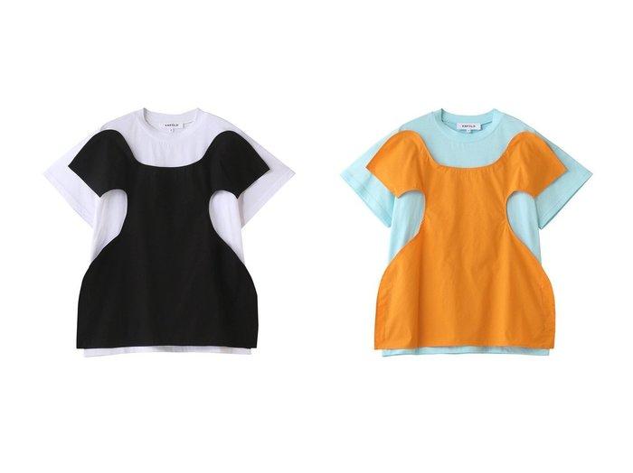 【ENFOLD/エンフォルド】のソフト天竺 レイヤードTシャツ 【トップス・カットソー】おすすめ!人気、トレンド・レディースファッションの通販 おすすめ人気トレンドファッション通販アイテム 人気、トレンドファッション・服の通販 founy(ファニー) ファッション Fashion レディースファッション WOMEN トップス・カットソー Tops/Tshirt シャツ/ブラウス Shirts/Blouses ロング / Tシャツ T-Shirts カットソー Cut and Sewn カットソー ショート シンプル スリーブ |ID:crp329100000039604