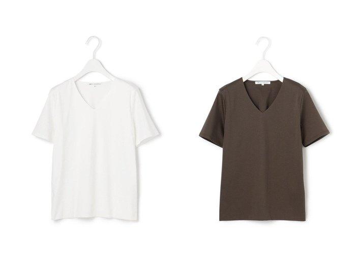 【NIJYUSANKU/23区】の【洗える】DOUBLE SMOOTH Vネック Tシャツ 【トップス・カットソー】おすすめ!人気、トレンド・レディースファッションの通販 おすすめ人気トレンドファッション通販アイテム インテリア・キッズ・メンズ・レディースファッション・服の通販 founy(ファニー) https://founy.com/ ファッション Fashion レディースファッション WOMEN トップス・カットソー Tops/Tshirt シャツ/ブラウス Shirts/Blouses ロング / Tシャツ T-Shirts カットソー Cut and Sewn Vネック V-Neck 送料無料 Free Shipping インナー カットソー コンパクト シルケット ジャージ スクエア スーツ セットアップ 洗える |ID:crp329100000039646