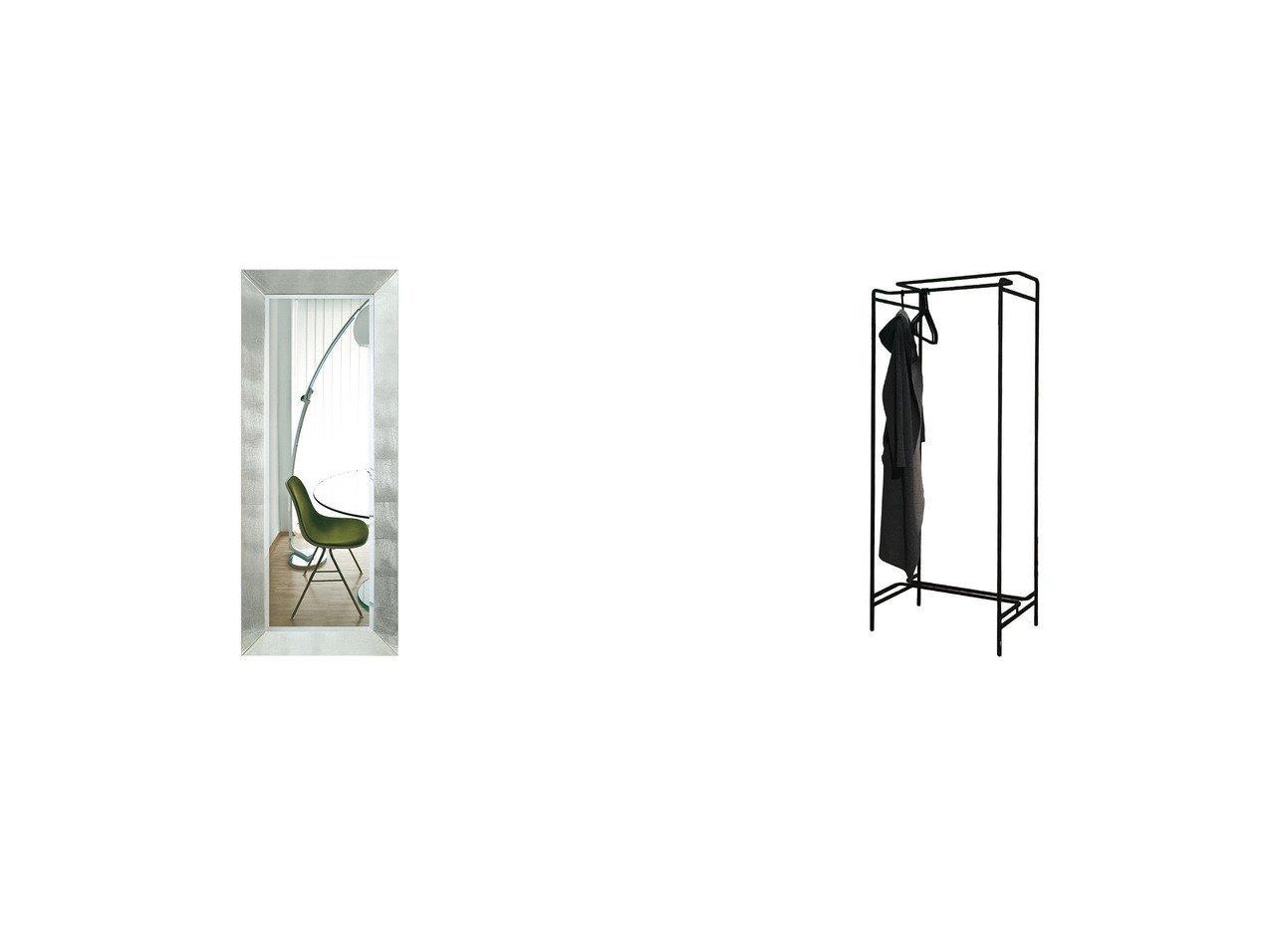 【FLYMEe Noir/フライミー ノワール】のウォールミラー m77100&レイライン ハンガーラック 【FURNITURE】おすすめ!人気、インテリア・家具の通販 おすすめで人気の流行・トレンド、ファッションの通販商品 メンズファッション・キッズファッション・インテリア・家具・レディースファッション・服の通販 founy(ファニー) https://founy.com/ 送料無料 Free Shipping シルバー スタンド フレーム シンプル ホーム・キャンプ・アウトドア Home,Garden,Outdoor,Camping Gear 家具・インテリア Furniture ミラー・ドレッサー Mirror ミラー・鏡 ホーム・キャンプ・アウトドア Home,Garden,Outdoor,Camping Gear 家具・インテリア Furniture ミラー・ドレッサー Mirror ドレッサー |ID:crp329100000039776