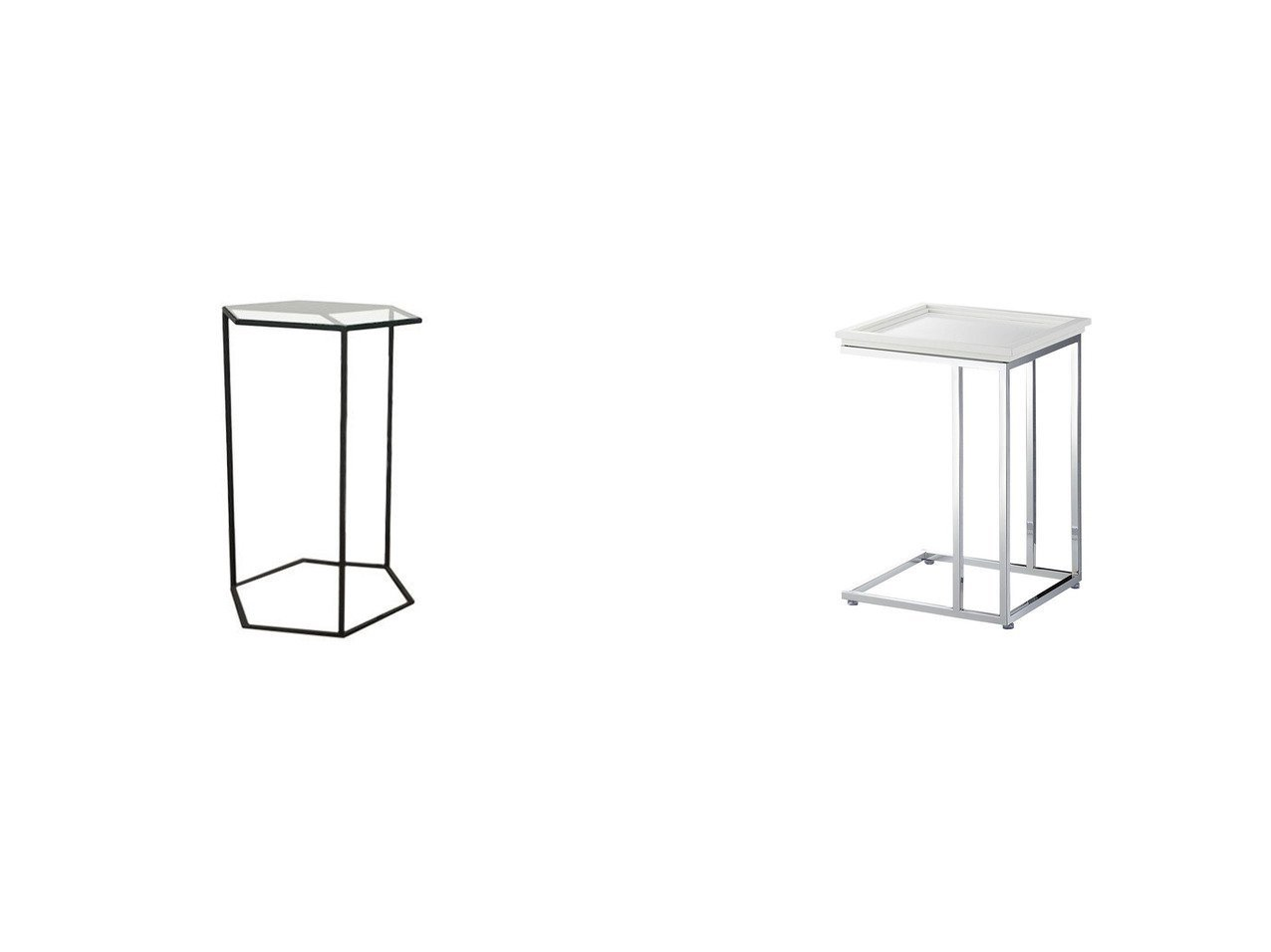 【FLYMEe Noir/フライミー ノワール】のサイドテーブル n59120&ヘキサゴンキューブ テーブル 高さ60cm 【FURNITURE】おすすめ!人気、インテリア・家具の通販 おすすめで人気の流行・トレンド、ファッションの通販商品 メンズファッション・キッズファッション・インテリア・家具・レディースファッション・服の通販 founy(ファニー) https://founy.com/ 送料無料 Free Shipping ガラス シンプル テーブル スタイリッシュ モダン ホーム・キャンプ・アウトドア Home,Garden,Outdoor,Camping Gear 家具・インテリア Furniture テーブル Table サイドテーブル・小テーブル |ID:crp329100000039826