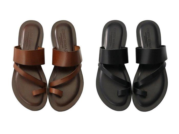 【allureville/アルアバイル】の【CORSO ROMA 】サンダル 【シューズ・靴】おすすめ!人気、トレンド・レディースファッションの通販 おすすめファッション通販アイテム インテリア・キッズ・メンズ・レディースファッション・服の通販 founy(ファニー) https://founy.com/ ファッション Fashion レディースファッション WOMEN なめらか クッション サンダル 今季 |ID:crp329100000039878