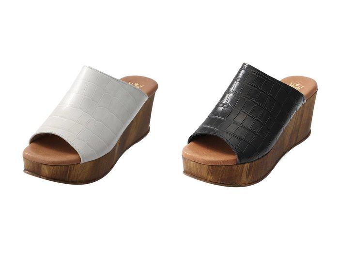 【Esmeralda/エスメラルダ】の【BONTRE】クロコ調厚底サンダル 【シューズ・靴】おすすめ!人気、トレンド・レディースファッションの通販 おすすめ人気トレンドファッション通販アイテム 人気、トレンドファッション・服の通販 founy(ファニー) ファッション Fashion レディースファッション WOMEN クロコ サンダル デニム 厚底 定番 Standard |ID:crp329100000039879