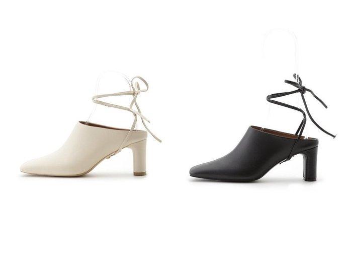 【FRAY I.D/フレイ アイディー】のレースアップスクエアミュール 【シューズ・靴】おすすめ!人気、トレンド・レディースファッションの通販 おすすめファッション通販アイテム インテリア・キッズ・メンズ・レディースファッション・服の通販 founy(ファニー) https://founy.com/ ファッション Fashion レディースファッション WOMEN シューズ ミュール ループ レース |ID:crp329100000039880