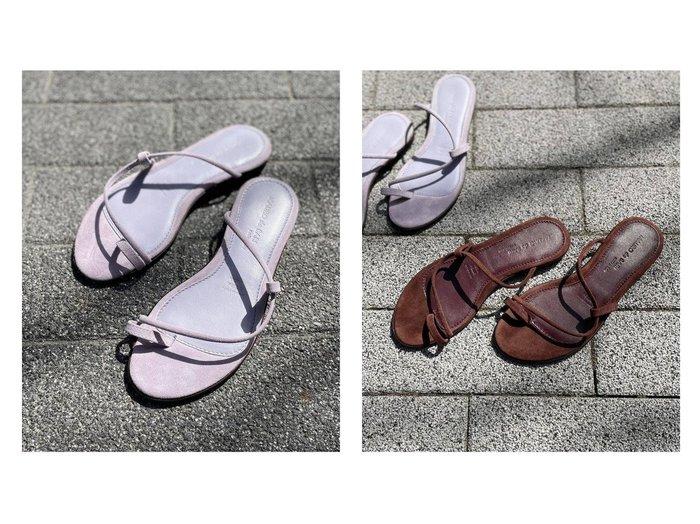 【NOBLE / Spick & Span/ノーブル / スピック&スパン】の【MAURO DE BARI】 トングサンダル 【シューズ・靴】おすすめ!人気、トレンド・レディースファッションの通販 おすすめ人気トレンドファッション通販アイテム 人気、トレンドファッション・服の通販 founy(ファニー) ファッション Fashion レディースファッション WOMEN イタリア 春 Spring サンダル シューズ シンプル スエード フェミニン ミュール ラップ 2021年 2021 S/S・春夏 SS・Spring/Summer 2021春夏・S/S SS/Spring/Summer/2021 NEW・新作・新着・新入荷 New Arrivals おすすめ Recommend |ID:crp329100000039881