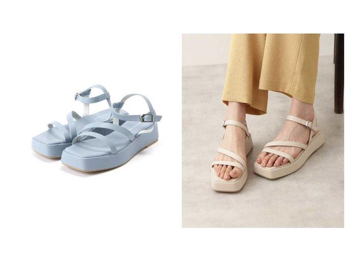 【NATURAL BEAUTY BASIC/ナチュラル ビューティー ベーシック】のボリュームソールワントーンサンダル 【シューズ・靴】おすすめ!人気、トレンド・レディースファッションの通販 おすすめファッション通販アイテム レディースファッション・服の通販 founy(ファニー) ファッション Fashion レディースファッション WOMEN サンダル スウェード ラップ 厚底 軽量 |ID:crp329100000039891
