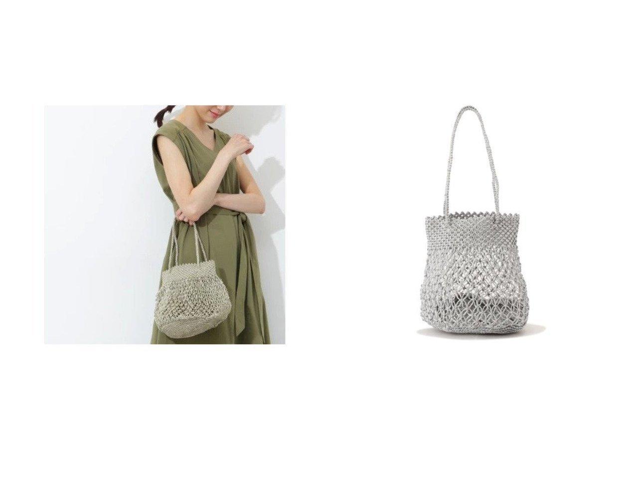 【NATURAL BEAUTY BASIC/ナチュラル ビューティー ベーシック】のマクラメメタリックトート 【バッグ・鞄】おすすめ!人気、トレンド・レディースファッションの通販 おすすめで人気の流行・トレンド、ファッションの通販商品 メンズファッション・キッズファッション・インテリア・家具・レディースファッション・服の通販 founy(ファニー) https://founy.com/ ファッション Fashion レディースファッション WOMEN バッグ Bag シルバー |ID:crp329100000039895