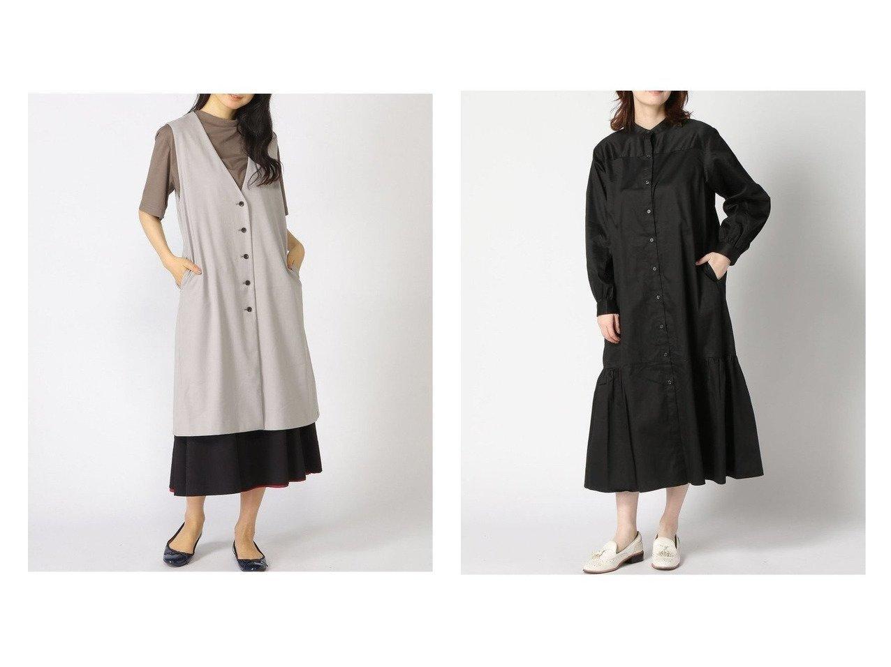 【GLOBAL WORK/グローバルワーク】のタイプライターボリュームOP&Vネックロングジレ 【プチプライス】おすすめ!人気トレンド・ファッション通販 おすすめで人気の流行・トレンド、ファッションの通販商品 インテリア・家具・メンズファッション・キッズファッション・レディースファッション・服の通販 founy(ファニー) https://founy.com/ ファッション Fashion レディースファッション WOMEN アウター Coat Outerwear トップス・カットソー Tops/Tshirt キャミソール / ノースリーブ No Sleeves シャツ/ブラウス Shirts/Blouses ベスト/ジレ Gilets/Vests Vネック V-Neck ワンピース Dress シャツワンピース Shirt Dresses NEW・新作・新着・新入荷 New Arrivals キャミソール シンプル デニム トレンド ノースリーブ ロング 今季 サテン スキニー ストレート タイプライター ティアード バランス |ID:crp329100000040134