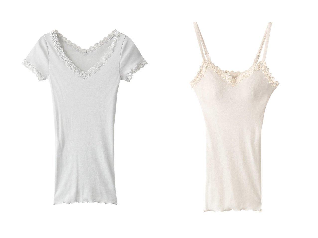 【KID BLUE/キッドブルー】の21コットンフライス半袖インナー&21コットンフライスカップ付キャミ 【ルームウェア・リラックススタイル】おすすめ!人気、トレンド・レディースファッションの通販   おすすめで人気の流行・トレンド、ファッションの通販商品 インテリア・家具・メンズファッション・キッズファッション・レディースファッション・服の通販 founy(ファニー) https://founy.com/ ファッション Fashion レディースファッション WOMEN トップス・カットソー Tops/Tshirt キャミソール / ノースリーブ No Sleeves おすすめ Recommend インナー シンプル セットアップ トリミング レース 半袖 キャミ キャミソール |ID:crp329100000040279