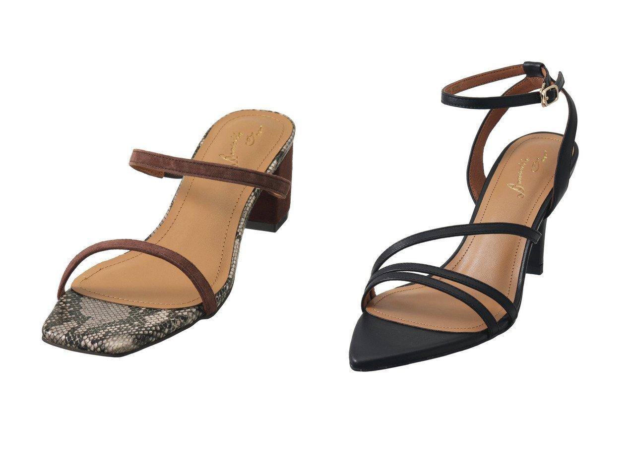 【Daniella & GEMMA/ダニエラ アンド ジェマ】のスクエアトゥチャンキーヒールサンダル&ポインテッドトゥラインストラップサンダル 【シューズ・靴】おすすめ!人気、トレンド・レディースファッションの通販 おすすめで人気の流行・トレンド、ファッションの通販商品 インテリア・家具・メンズファッション・キッズファッション・レディースファッション・服の通販 founy(ファニー) https://founy.com/ ファッション Fashion レディースファッション WOMEN S/S・春夏 SS・Spring/Summer コンビ サンダル スエード フィット 春 Spring ラップ |ID:crp329100000040298
