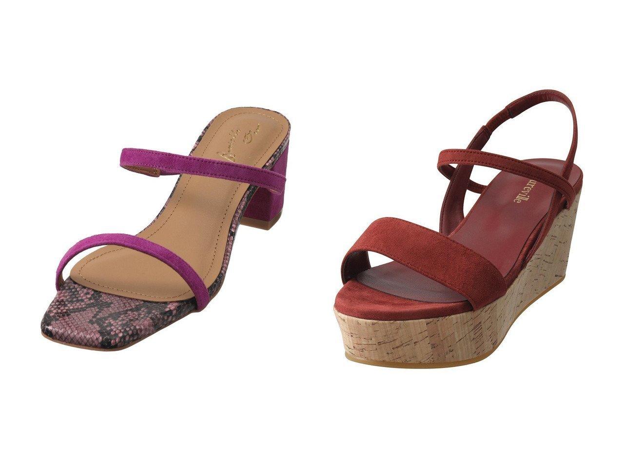 【allureville/アルアバイル】のハイヒールコルクウェッジサンダル&【Daniella & GEMMA/ダニエラ アンド ジェマ】のスクエアトゥチャンキーヒールサンダル 【シューズ・靴】おすすめ!人気、トレンド・レディースファッションの通販 おすすめで人気の流行・トレンド、ファッションの通販商品 インテリア・家具・メンズファッション・キッズファッション・レディースファッション・服の通販 founy(ファニー) https://founy.com/ ファッション Fashion レディースファッション WOMEN コルク サンダル フォルム ラップ S/S・春夏 SS・Spring/Summer コンビ スエード フィット 春 Spring |ID:crp329100000040299