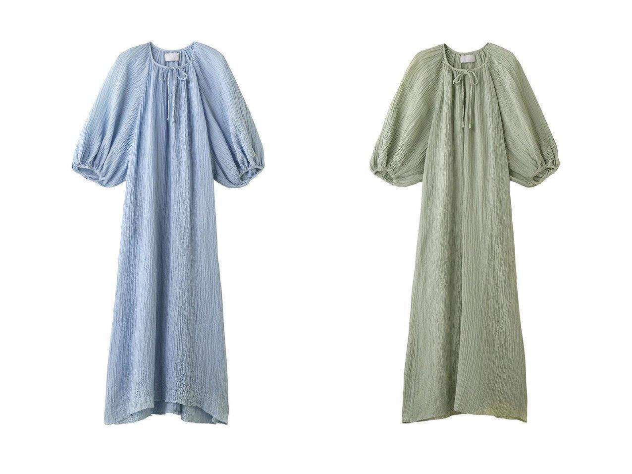 【MARILYN MOON/マリリンムーン】の【WALANCE】【草木染め】ナチュラルダイプリーツドレス 【ワンピース・ドレス】おすすめ!人気、トレンド・レディースファッションの通販 おすすめで人気の流行・トレンド、ファッションの通販商品 インテリア・家具・メンズファッション・キッズファッション・レディースファッション・服の通販 founy(ファニー) https://founy.com/ ファッション Fashion レディースファッション WOMEN ワンピース Dress ドレス Party Dresses スリーブ ドレス マキシ リゾート ロング  ID:crp329100000040345