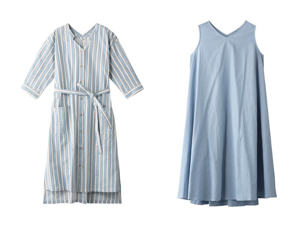 【KID BLUE/キッドブルー】の21ワッシャーストライプワンピース&21ボタニカルリネンワンピース 【ワンピース・ドレス】おすすめ!人気、トレンド・レディースファッションの通販 おすすめで人気の流行・トレンド、ファッションの通販商品 インテリア・家具・メンズファッション・キッズファッション・レディースファッション・服の通販 founy(ファニー) https://founy.com/ ファッション Fashion レディースファッション WOMEN ワンピース Dress S/S・春夏 SS・Spring/Summer ストライプ スリット リボン 春 Spring  ID:crp329100000040346