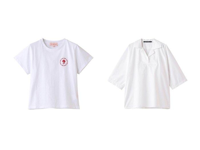 【MAISON SPECIAL/メゾンスペシャル】の【Lisa Says Gah】 Gah Tee Circle Tシャツ&【martinique/マルティニーク】の【SOFIE D HOORE】ブラウス 【トップス・カットソー】おすすめ!人気、トレンド・レディースファッションの通販 おすすめ人気トレンドファッション通販アイテム 人気、トレンドファッション・服の通販 founy(ファニー) ファッション Fashion レディースファッション WOMEN トップス・カットソー Tops/Tshirt シャツ/ブラウス Shirts/Blouses ロング / Tシャツ T-Shirts カットソー Cut and Sewn ショート スリーブ おすすめ Recommend ボトム ルーズ ロング |ID:crp329100000040385