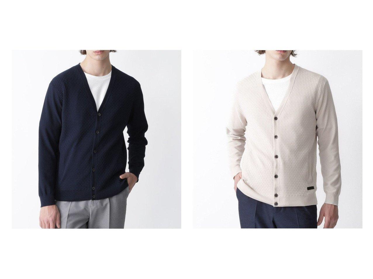 【BLACK LABEL CRESTBRIDGE / MEN/ブラックレーベル クレストブリッジ】のパネルリンクスカーディガン 【MEN】おすすめ!人気トレンド・男性、メンズファッションの通販 おすすめで人気の流行・トレンド、ファッションの通販商品 インテリア・家具・メンズファッション・キッズファッション・レディースファッション・服の通販 founy(ファニー) https://founy.com/ ファッション Fashion メンズファッション MEN カーディガン シンプル ストレッチ フロント ブロック 長袖 |ID:crp329100000040486