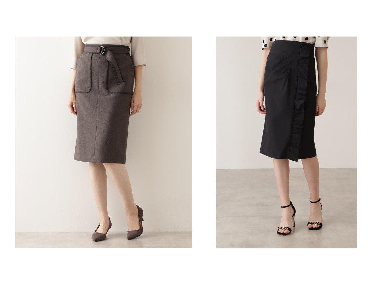 【NATURAL BEAUTY BASIC/ナチュラル ビューティー ベーシック】のバイカラータイトスカート&【Pinky&Dianne/ピンキーアンドダイアン】のサイドギャザーデザインスカート 【スカート】おすすめ!人気、トレンド・レディースファッションの通販 おすすめで人気の流行・トレンド、ファッションの通販商品 インテリア・家具・メンズファッション・キッズファッション・レディースファッション・服の通販 founy(ファニー) https://founy.com/ ファッション Fashion レディースファッション WOMEN スカート Skirt スタンダード タイトスカート ポケット 再入荷 Restock/Back in Stock/Re Arrival |ID:crp329100000040804