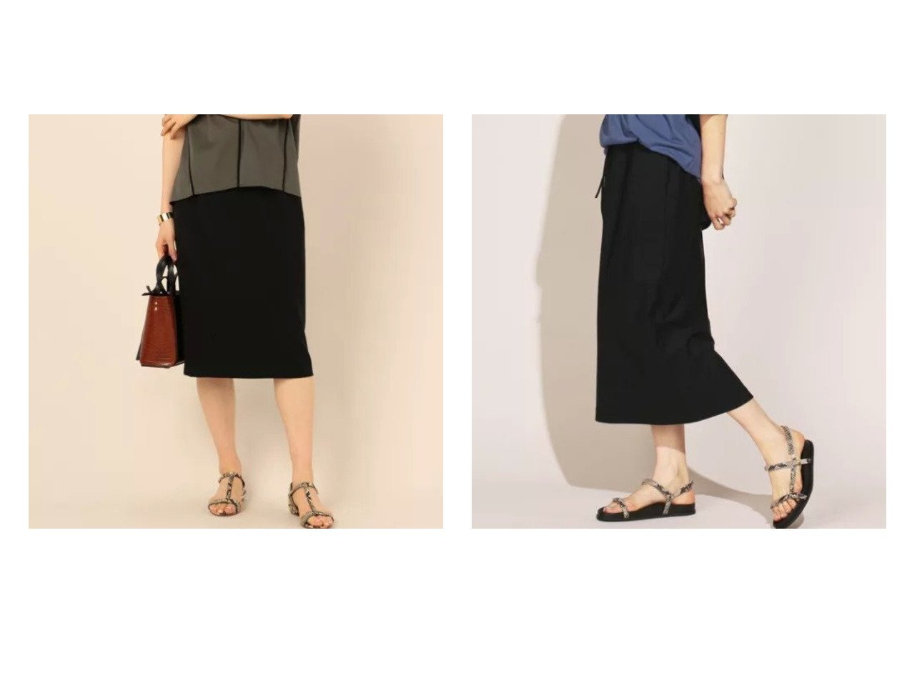 【NOLLEY'S sophi/ノーリーズソフィー】の強撚2WAYタイトスカート&【NOLLEY'S/ノーリーズ】のメリルイージースカート 【スカート】おすすめ!人気、トレンド・レディースファッションの通販 おすすめで人気の流行・トレンド、ファッションの通販商品 インテリア・家具・メンズファッション・キッズファッション・レディースファッション・服の通販 founy(ファニー) https://founy.com/ ファッション Fashion レディースファッション WOMEN スカート Skirt 洗える 吸水 ジャケット ストレッチ セットアップ タイトスカート 人気 カットソー シンプル ストレート ドローコード ロング |ID:crp329100000040818
