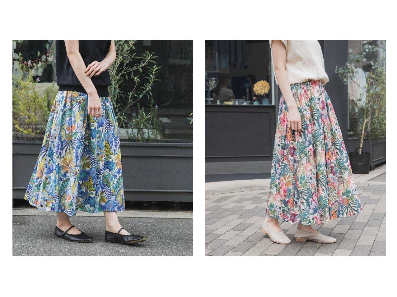 【kagure / URBAN RESEARCH/かぐれ】のボタニカルリバティプリントスカート 【スカート】おすすめ!人気、トレンド・レディースファッションの通販 おすすめで人気の流行・トレンド、ファッションの通販商品 インテリア・家具・メンズファッション・キッズファッション・レディースファッション・服の通販 founy(ファニー) https://founy.com/ ファッション Fashion レディースファッション WOMEN スカート Skirt シンプル 人気 |ID:crp329100000040823