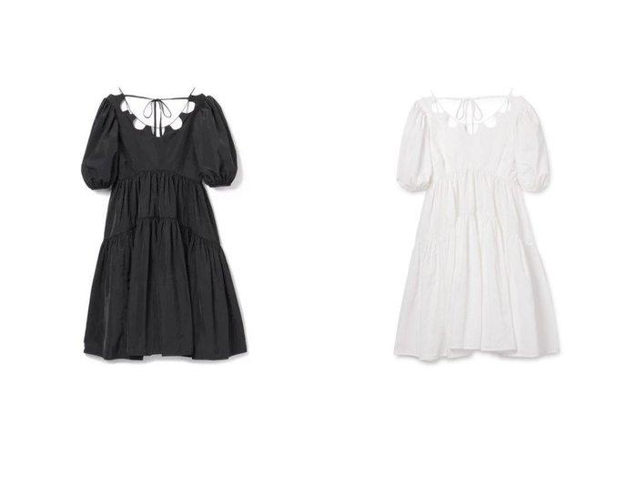 【CECILIE BAHNSEN/セシリー バンセン】のHARRIET DRESS 【ワンピース・ドレス】おすすめ!人気、トレンド・レディースファッションの通販 おすすめ人気トレンドファッション通販アイテム 人気、トレンドファッション・服の通販 founy(ファニー) ファッション Fashion レディースファッション WOMEN ワンピース Dress ドレス Party Dresses 2021年 2021 2021春夏・S/S SS/Spring/Summer/2021 S/S・春夏 SS・Spring/Summer スリーブ デコルテ ドレス フェミニン フォーマル 半袖 洗える |ID:crp329100000040922
