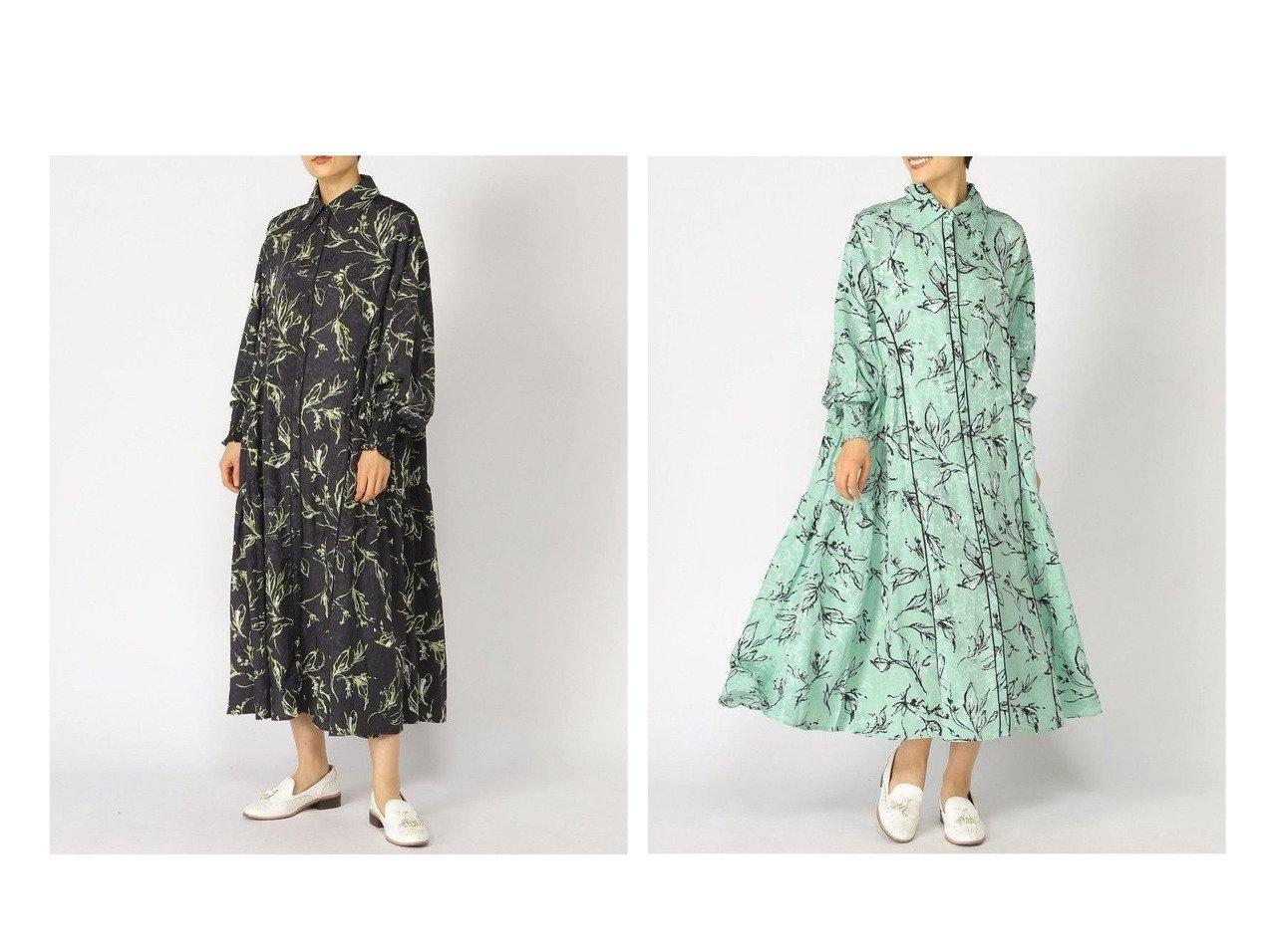 【JEANASiS/ジーナシス】のクサキガラロングOP 【ワンピース・ドレス】おすすめ!人気、トレンド・レディースファッションの通販 おすすめで人気の流行・トレンド、ファッションの通販商品 インテリア・家具・メンズファッション・キッズファッション・レディースファッション・服の通販 founy(ファニー) https://founy.com/ ファッション Fashion レディースファッション WOMEN ワンピース Dress シャツワンピース Shirt Dresses ティアード パイピング プリント 人気 春 Spring 秋 Autumn/Fall |ID:crp329100000040929