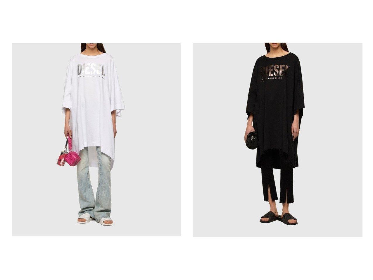 【DIESEL/ディーゼル】のD-EXTRA おすすめ!人気、トレンド・レディースファッションの通販 おすすめで人気の流行・トレンド、ファッションの通販商品 インテリア・家具・メンズファッション・キッズファッション・レディースファッション・服の通販 founy(ファニー) https://founy.com/ ファッション Fashion レディースファッション WOMEN ワンピース Dress シャツワンピース Shirt Dresses おすすめ Recommend クール スニーカー プリント メタリック リラックス レギンス 半袖 |ID:crp329100000040934
